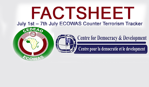FACTSHEET: ECOWAS Counter Terrorism Tracker July 1st – 7th July